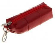 Футляр для ключей гладкий красный