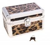 Шкатулка сундучок леопардовая шкура