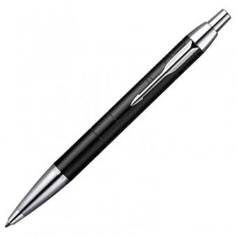 """Ручка шариковая """"Parker IM Premium Matt Black  CT"""", синий стержень"""