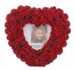 Рамка для фото сердце из роз