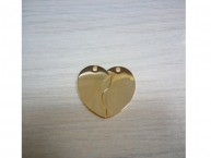 Сердечко сборное малое (золотистый)