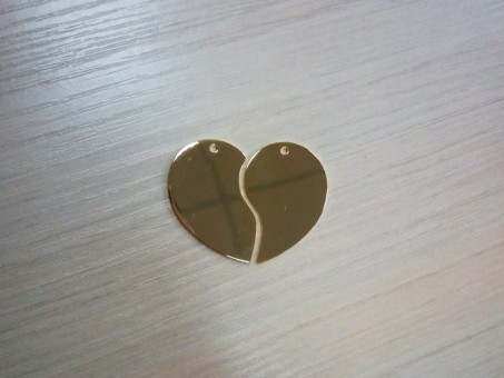 Сердечко сборное (золотистый)