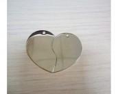 Сердечко сборное (серебристый)