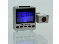 Электронный будильник Lamark LK-2100,серебристый