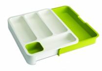 Органайзер для столовых приборов DrawerStore™ раздвижной белый/зеленый