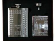 """Подарочный набор """"VIRON"""" фляжка 230 мл,воронка,портсигар"""