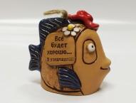 Колокольчик керамический Рыба