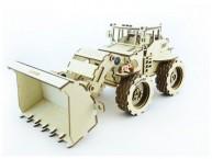 Конструктор деревянный подвижный Lemmo Трактор Бульдог