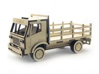 Конструктор деревянный подвижный Lemmo Грузовик с кузовом