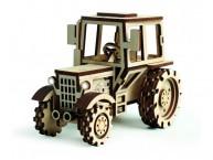 Конструктор деревянный подвижный Lemmo Трактор
