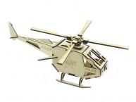 Конструктор деревянный подвижный Lemmo Вертолет Полиция