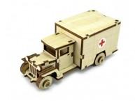 Конструктор деревянный подвижный Lemmo Советский грузовик ЗИС-5м