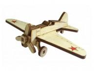 Конструктор деревянный подвижный Lemmo Советский истребитель И-16