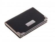 Визитница с металлическими вставками, цвет черный