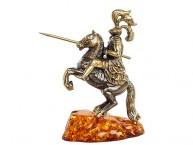 Рыцарь (латунь и янтарь)